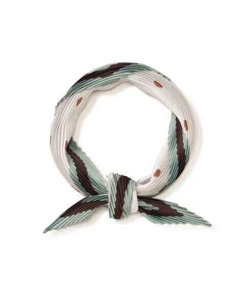 プリーツドットスカーフ