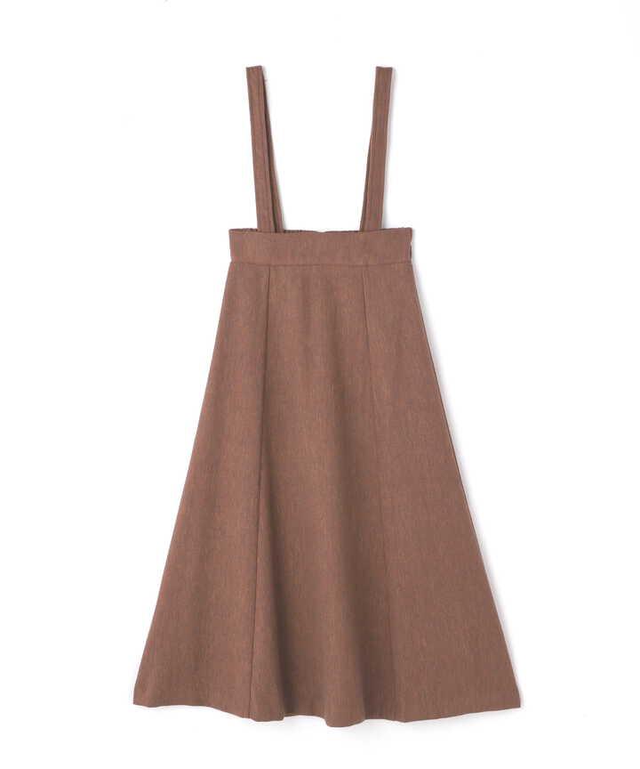 サスペンダー付ツイードスカート