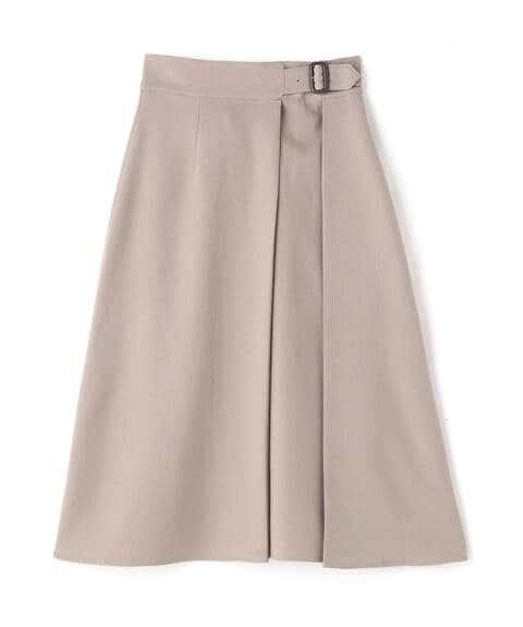 【先行予約9月下旬-10月上旬入荷予定】バックル付セミフレアスカート《S Size Line》