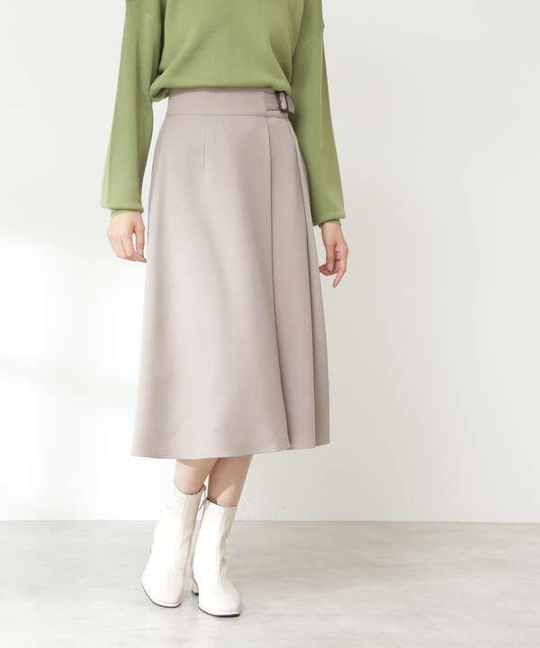 バックル付セミフレアスカート《S Size Line》
