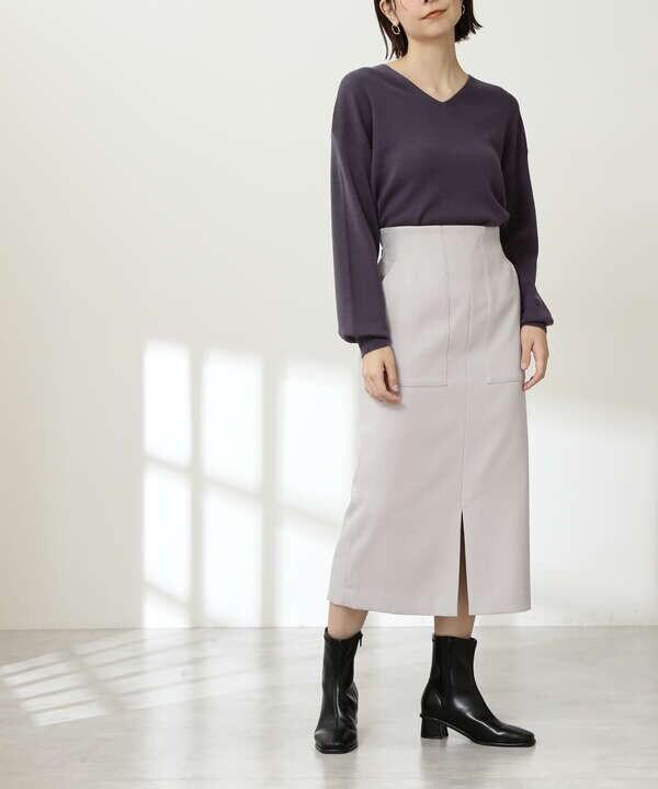 カルゼストレッチタイトスカート《S Size Line》
