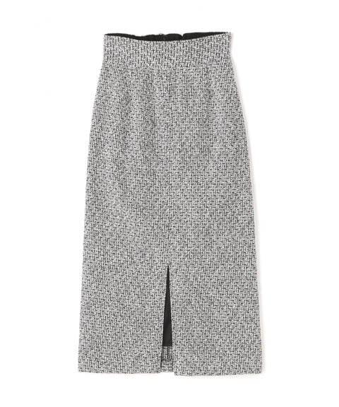 【先行予約12月上旬-12月中旬入荷予定】ツイードタイトスカート《S Size Line》