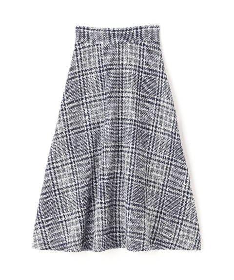 ツイードチェックセミフレアスカート《S Size Line》