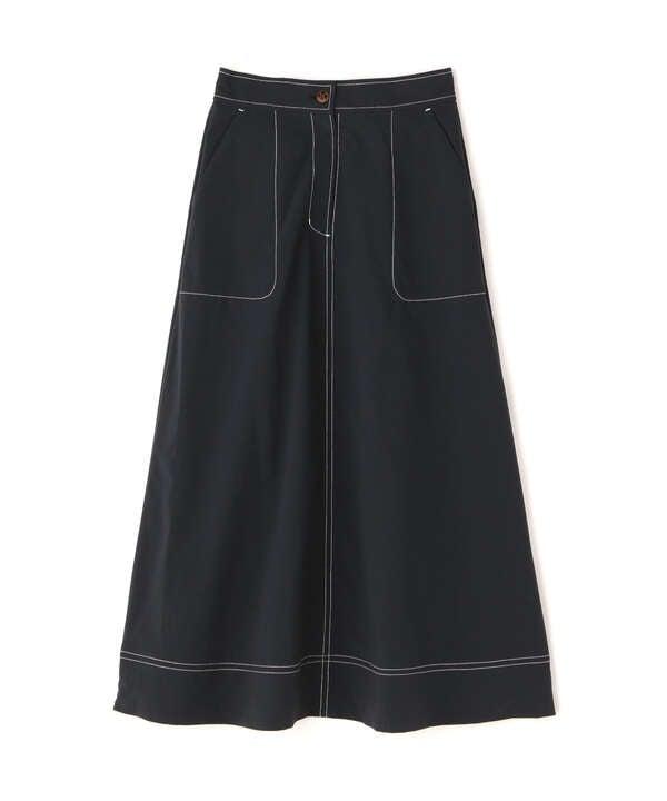 ステッチフレアスカート