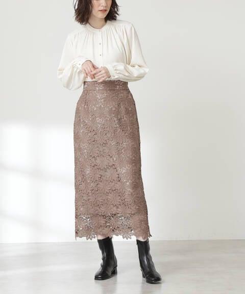 ケミカルレースロングスカート