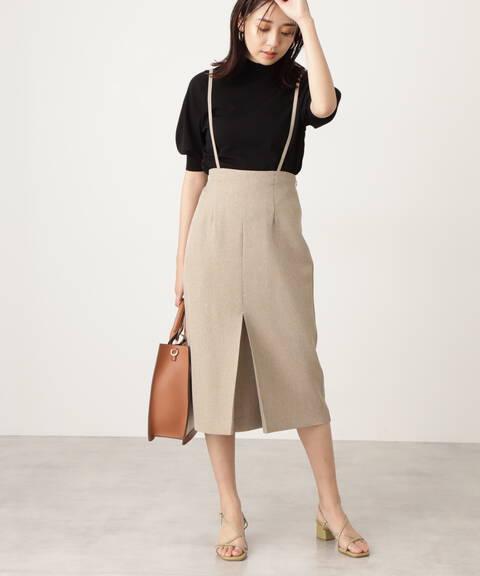 サスペンダー付タイトスカート《S Size Line》