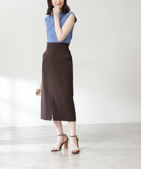 フロントポケットハイウエストタイトスカート《S Size Line》