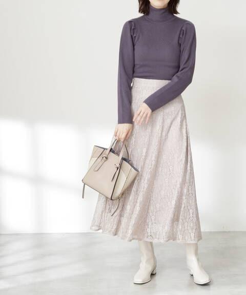 レースマーメイドミディスカート