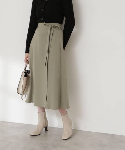 スモーキーカラーラップ風スカート《S Size Line》