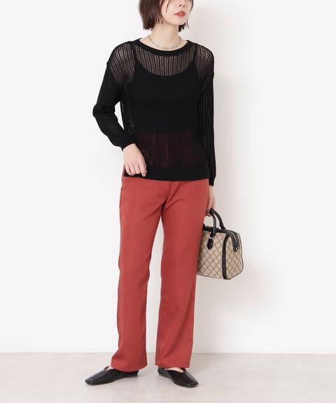 スリムストレートカラーパンツ《S Size Line》