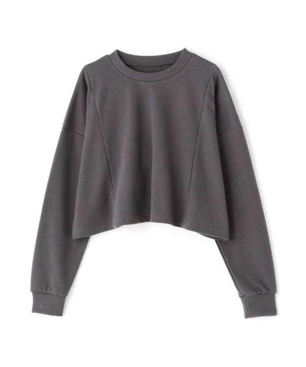 ワイドクロップドロングTシャツ