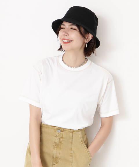 微配色ステッチTシャツ