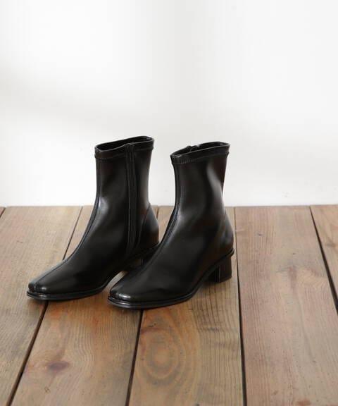クルミステッチストレッチショートブーツ