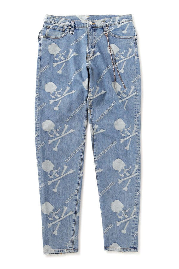 SLIM MONOGRAM DENIM PANTS