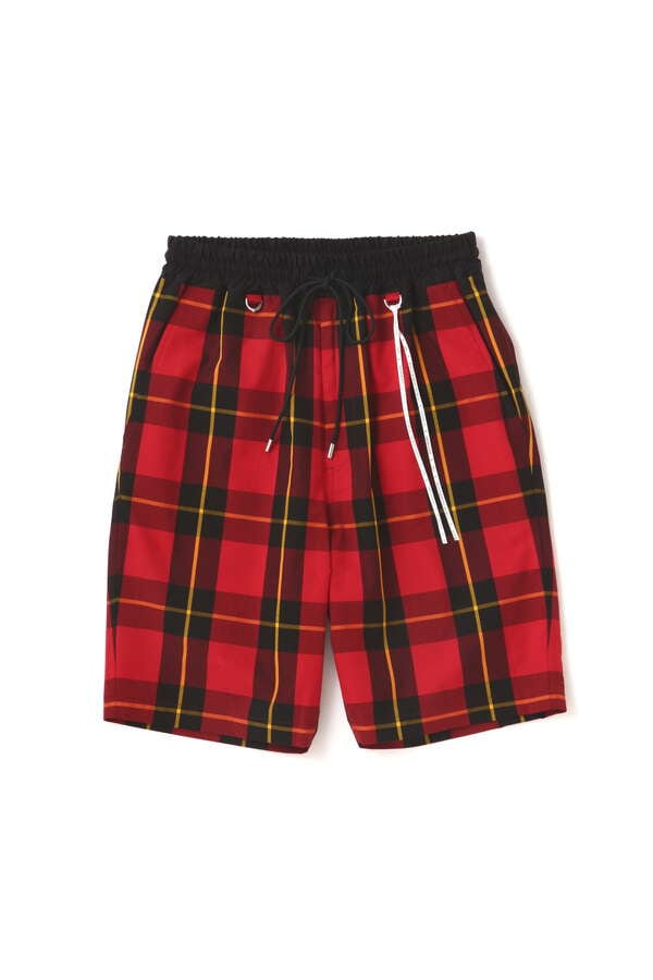 BLOCK PLAID SHORTS