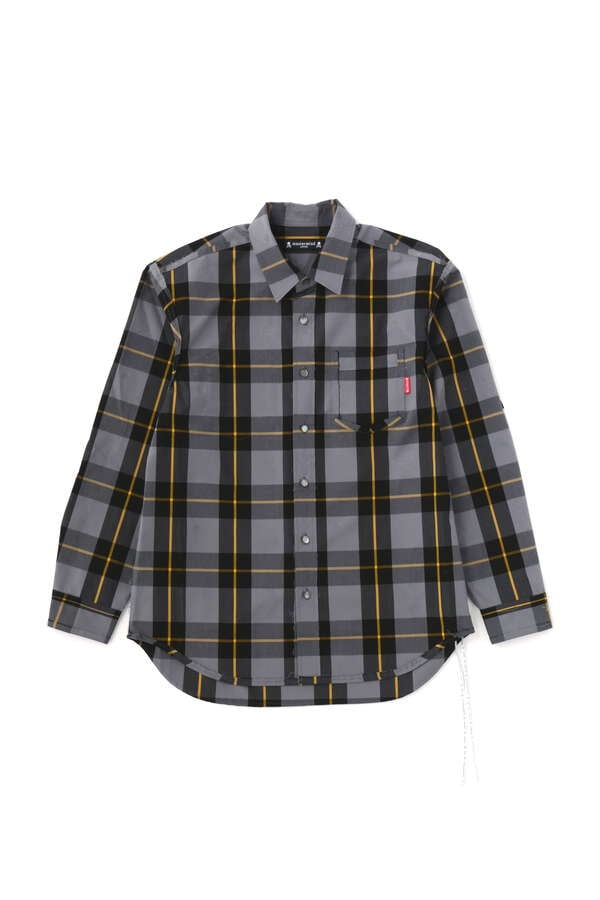 BLOCK PLAID REVERSIBLE LS SHIRTS