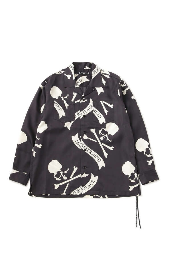TROPICAL SKULL SILK LS SHIRTS