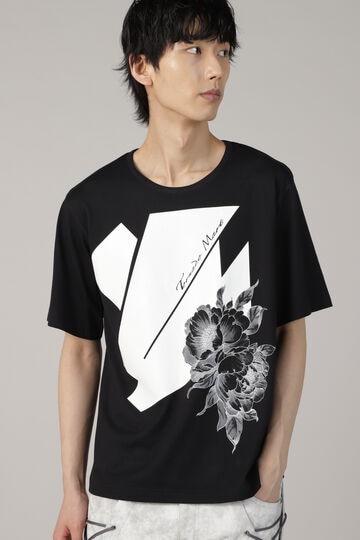 TORNADO MART∴レザー風プリントTシャツ