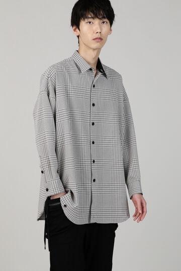 TORNADO MART∴オーバードロスト変形チェックシャツ