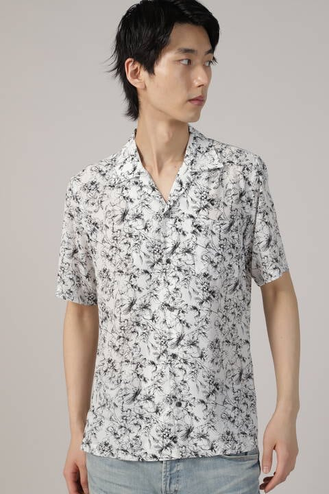 HIGH STREET∴フラワープリントオープンカラー半袖シャツ