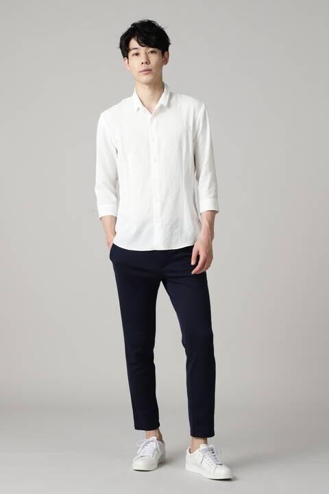 HIGH STREET∴リフラクスショートウイング7分袖シャツ