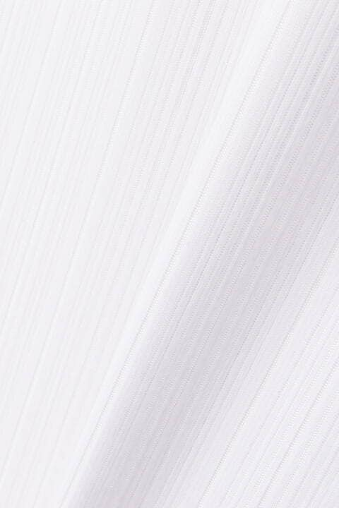 HIGH STREET∴ランダム針抜きABS加工 Vネックカットソー