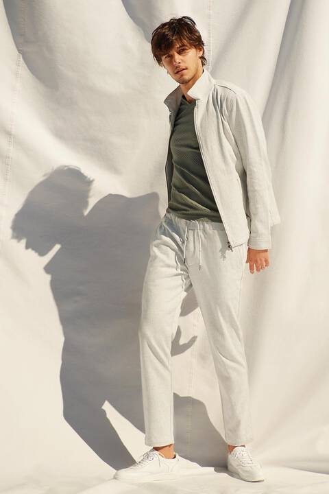 HIGH STREET∴RAPIモノグラム調ジャージ半袖Vネック