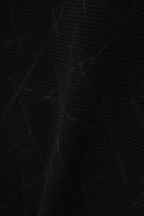 HIGH STREET∴リップルキカ柄JQ半袖Vネック