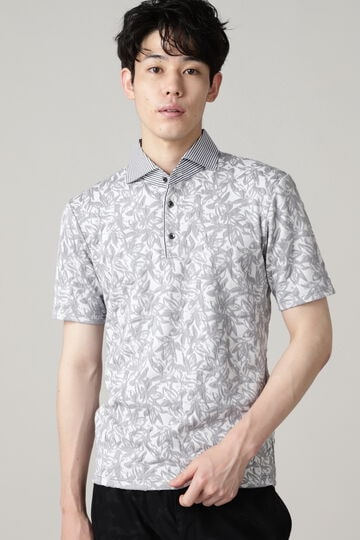 HIGH STREET∴フラワーJQ半袖ポロシャツ