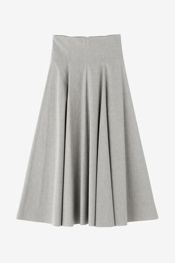 ATON / STRETCH BROAD FLARED SKIRT_020