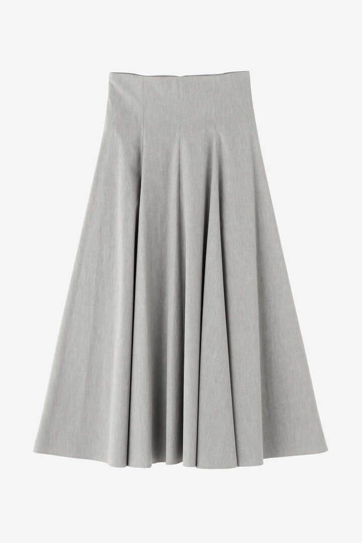 ATON / STRETCH BROAD FLARED SKIRT1