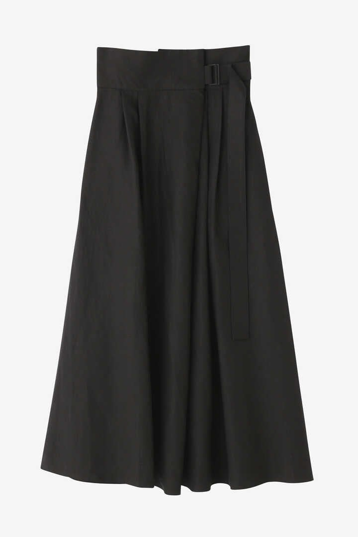 ATON / LINEN WEATHER BELTED SKIRT10
