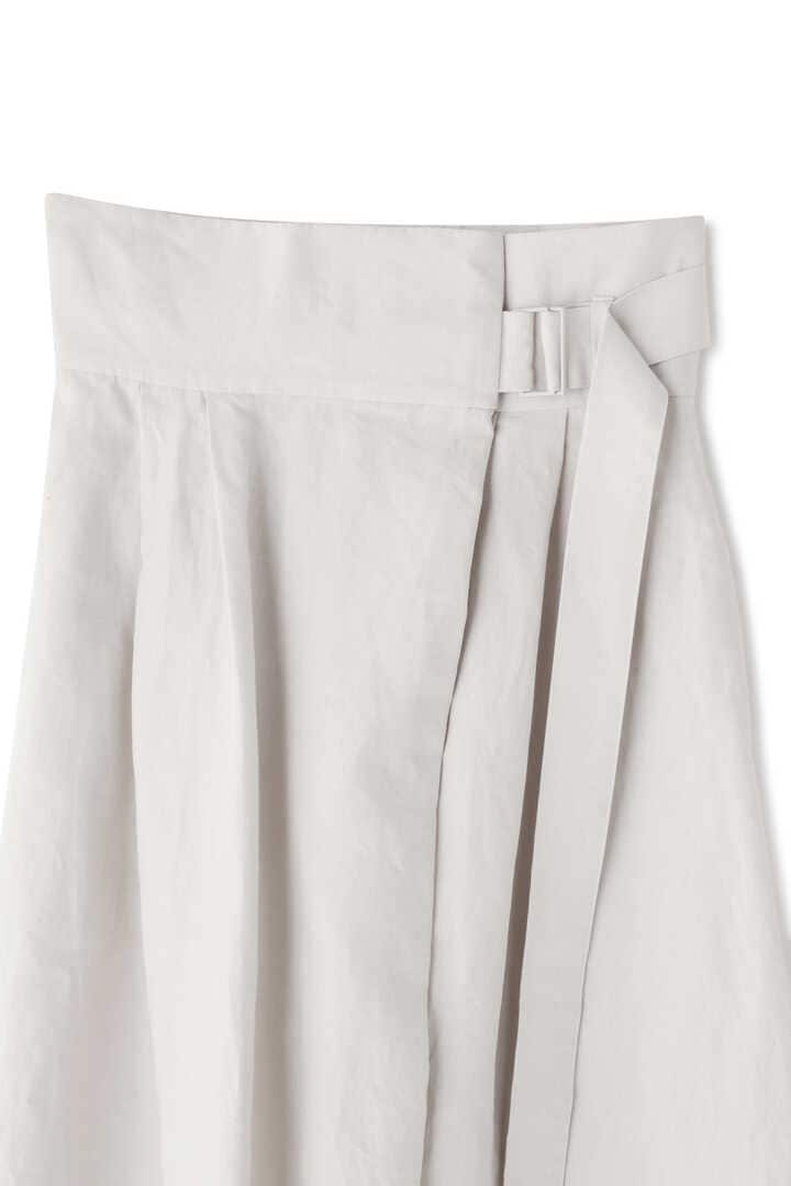 ATON / LINEN WEATHER BELTED SKIRT3