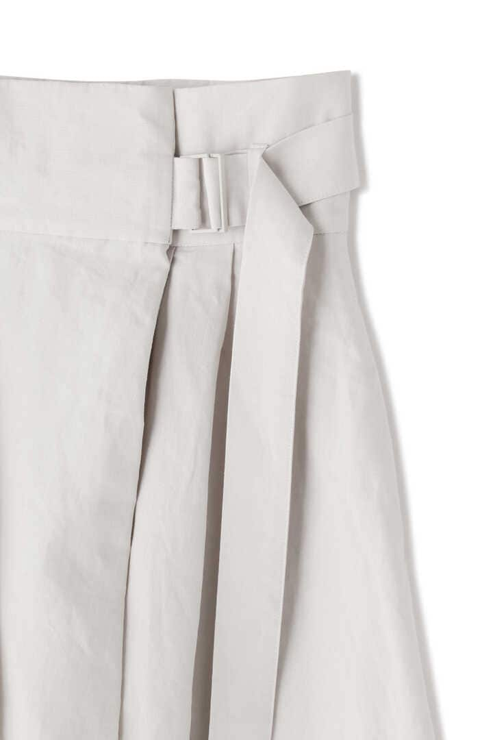 ATON / LINEN WEATHER BELTED SKIRT4