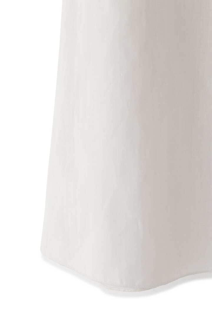 ATON / LINEN WEATHER BELTED SKIRT5