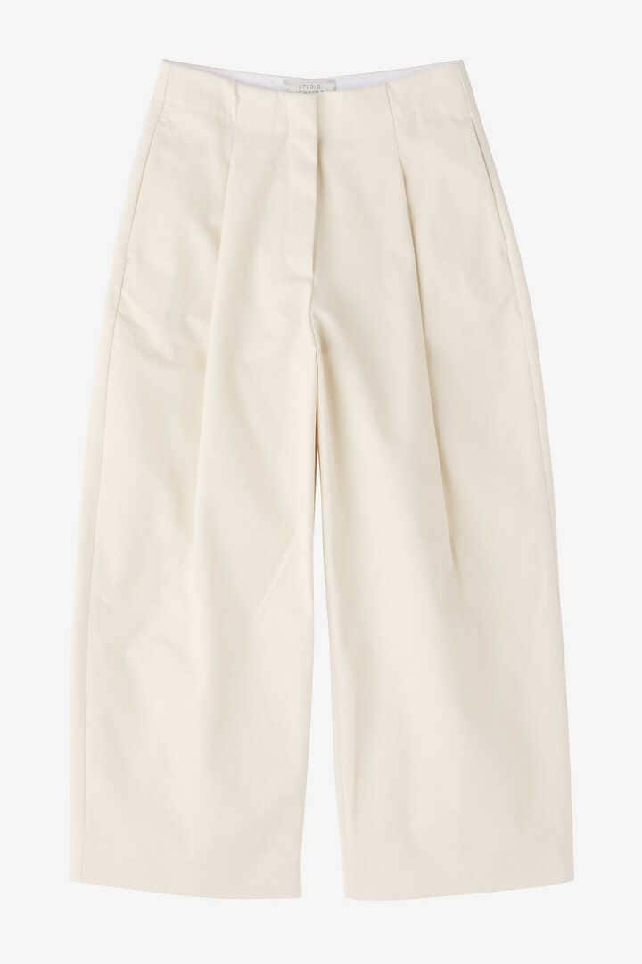 STUDIO NICHOLSON / PEACHED COTTON TWILL VOLUME PLEAT PANTS9