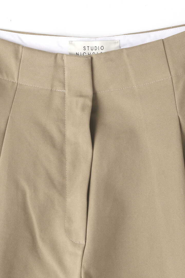 STUDIO NICHOLSON / PEACHED COTTON TWILL VOLUME PLEAT PANTS3