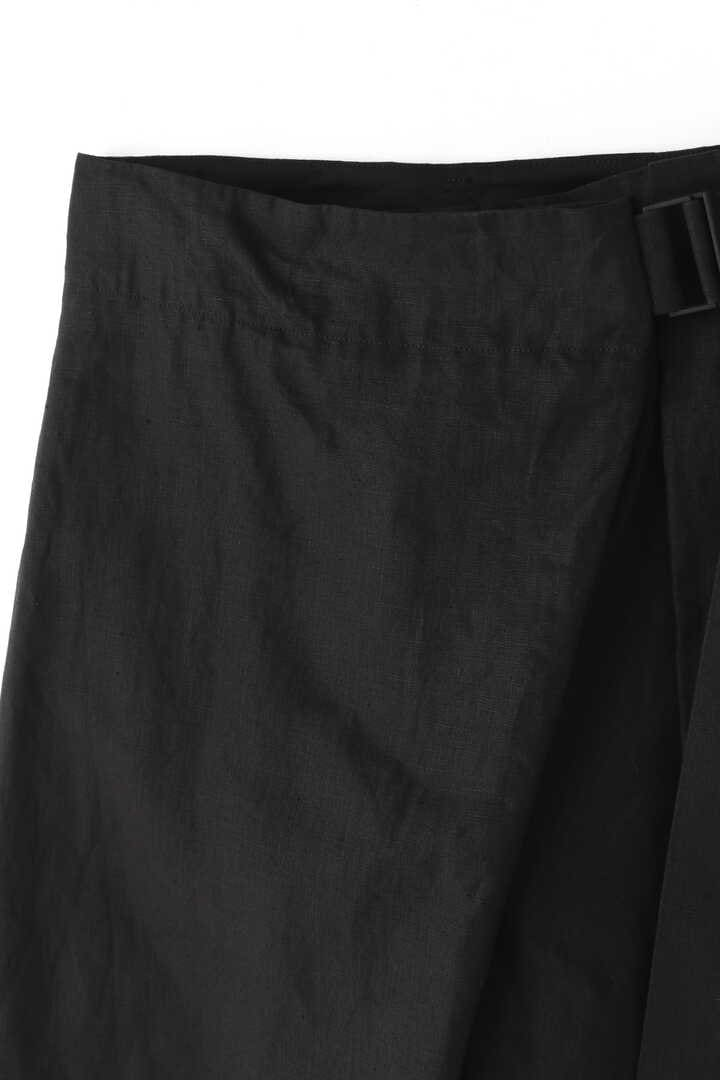 ATON / LINEN WEATHER BELTED PANTS3