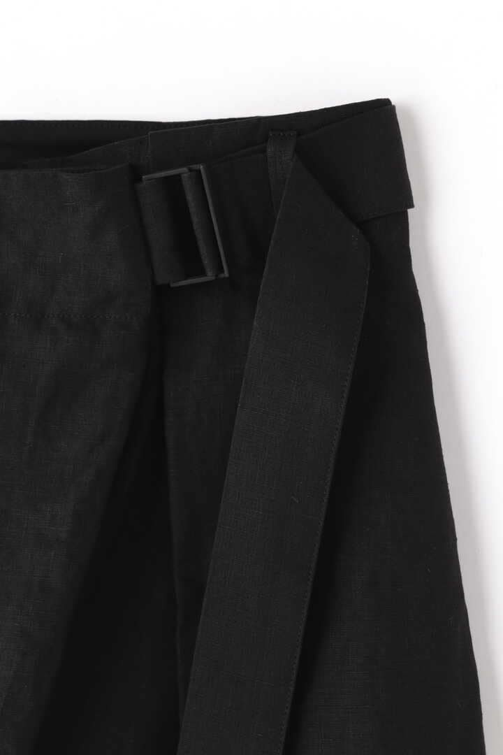 ATON / LINEN WEATHER BELTED PANTS4