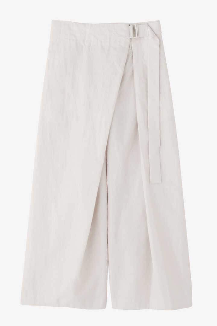 ATON / LINEN WEATHER BELTED PANTS10
