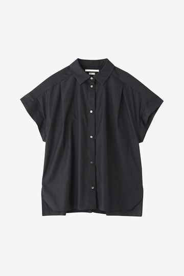 BLURHMS / HIGH COUNT CHAMBRAY FRENCH SLEEVE SHIRT_020