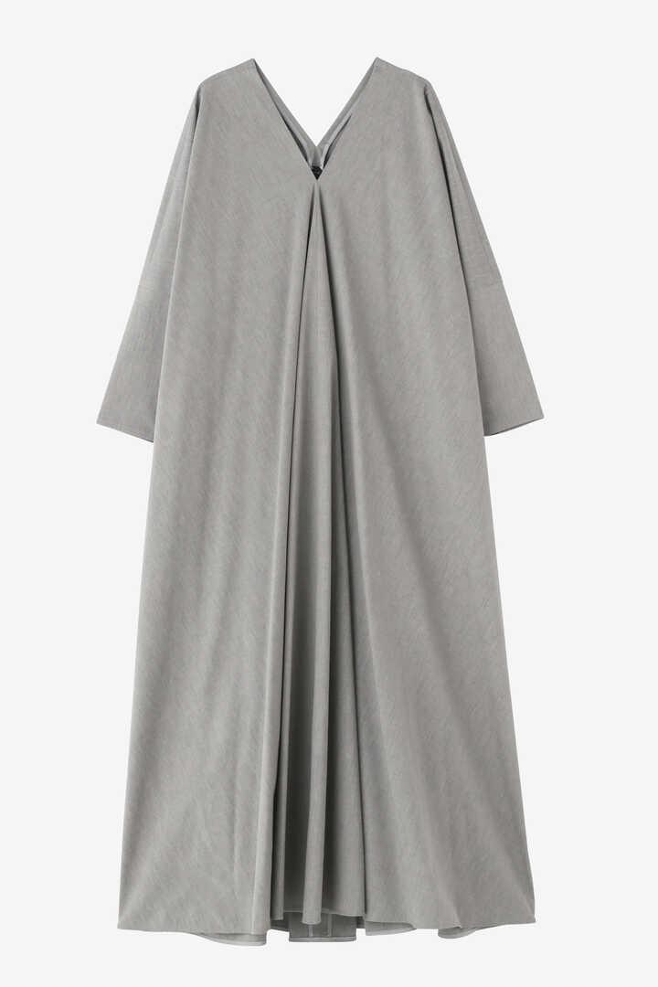 ATON / STRETCH BROAD DRAPED DRESS1