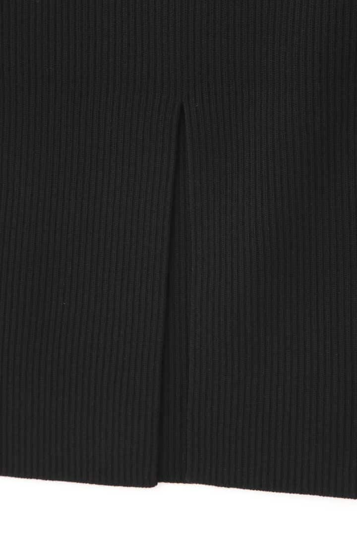 ATON / WORSTED WOOL CODE RIB FITTED SKIRT4