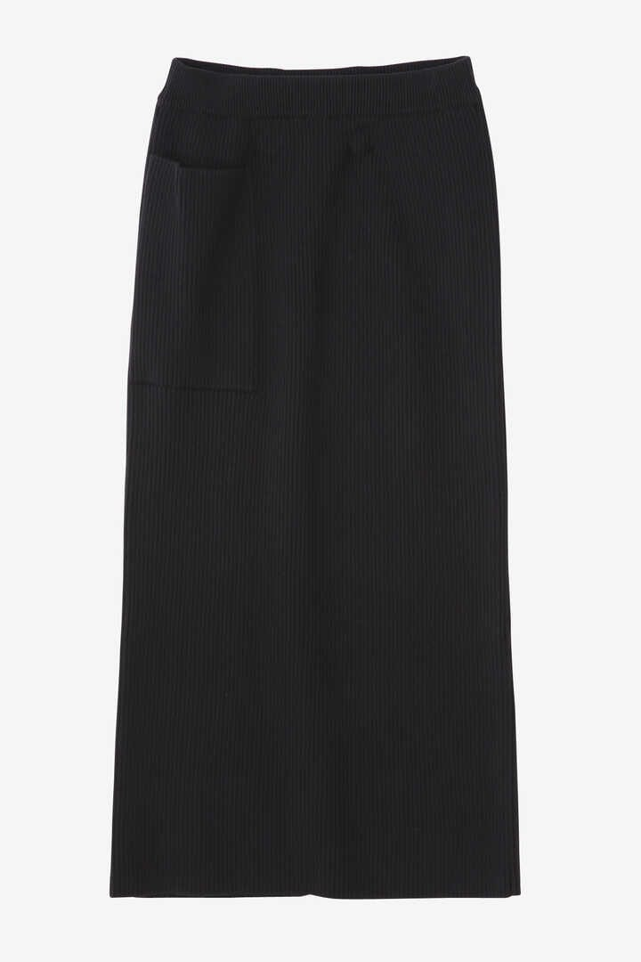 ATON / WORSTED WOOL CODE RIB FITTED SKIRT1