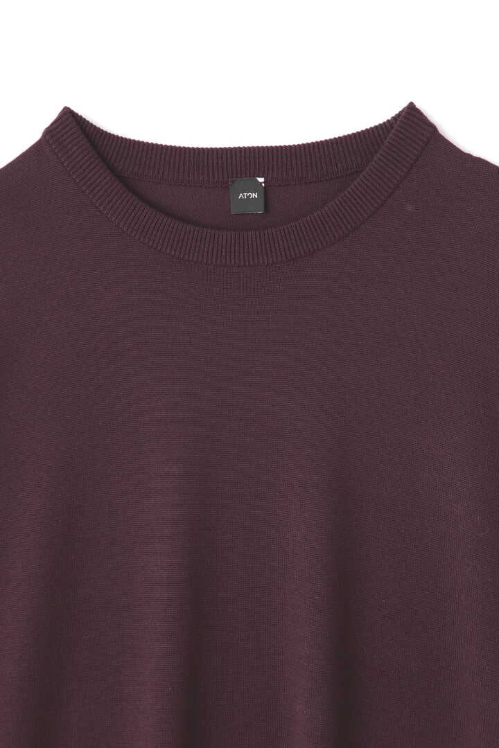 ATON / NATURAL DYE SLOW WOOL CREW NECK LONG DRESS3