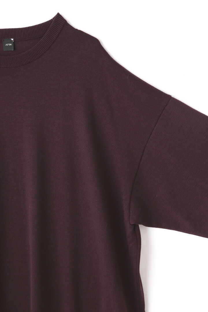 ATON / NATURAL DYE SLOW WOOL CREW NECK LONG DRESS4