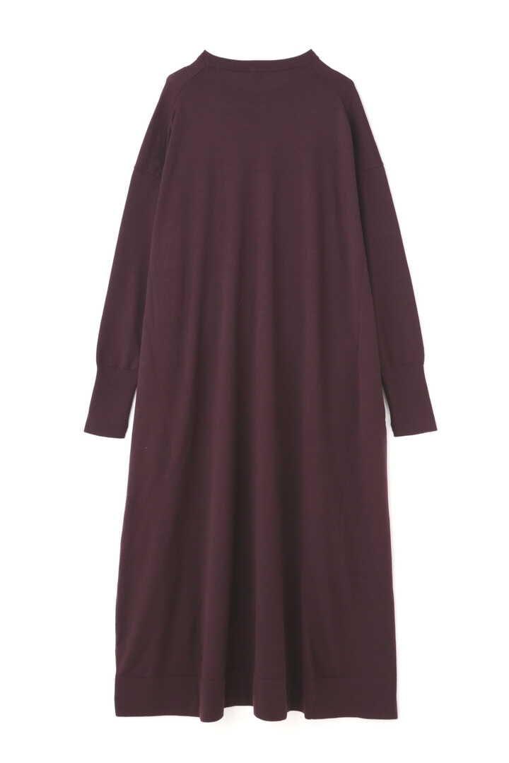 ATON / NATURAL DYE SLOW WOOL CREW NECK LONG DRESS2