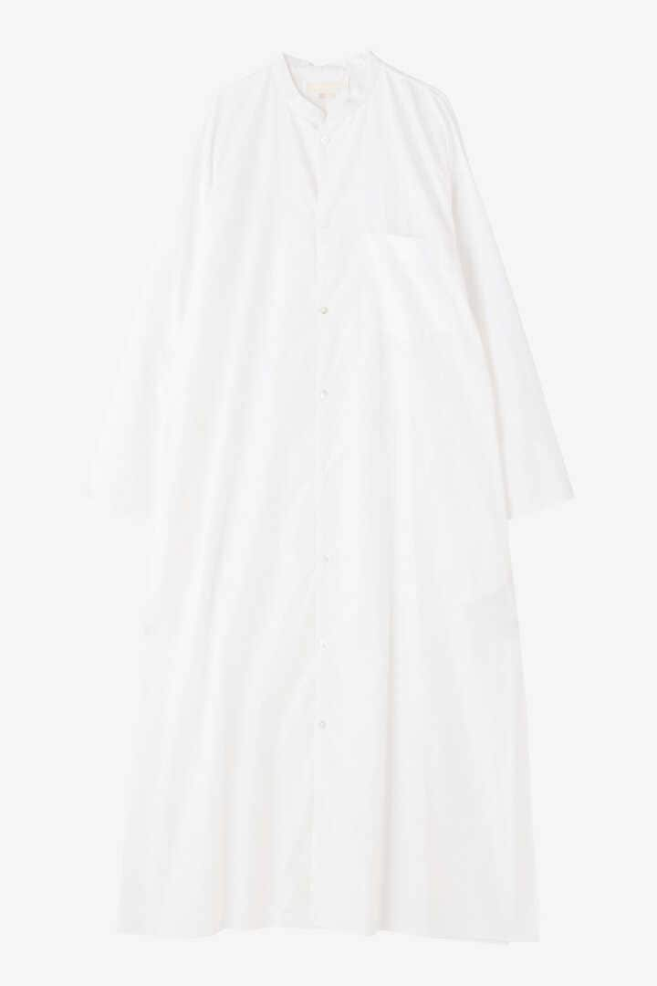BLURHMS / HIGH COUNT CHAMBRAY STAND-UP COLLAR WASHED DRESS1