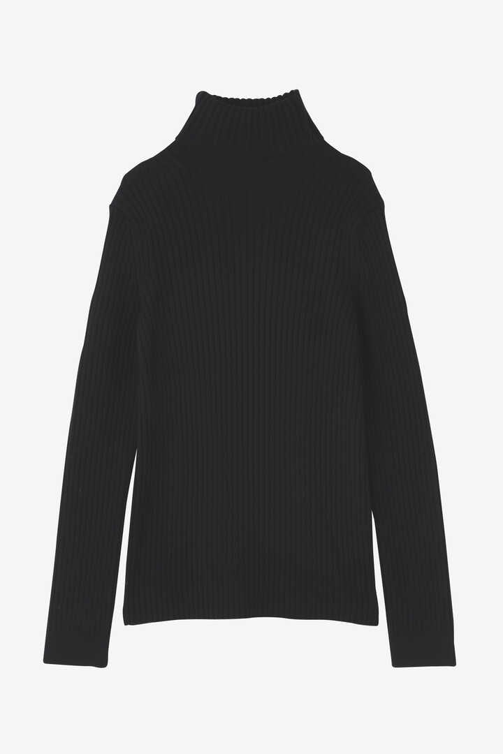 ATON / WORSTED WOOL CODE RIB FITTED KNIT1