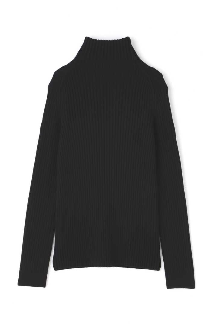 ATON / WORSTED WOOL CODE RIB FITTED KNIT2